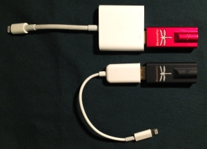 Apple Lightning to USB 3 Camera Adapter, and cheapo version from eBay